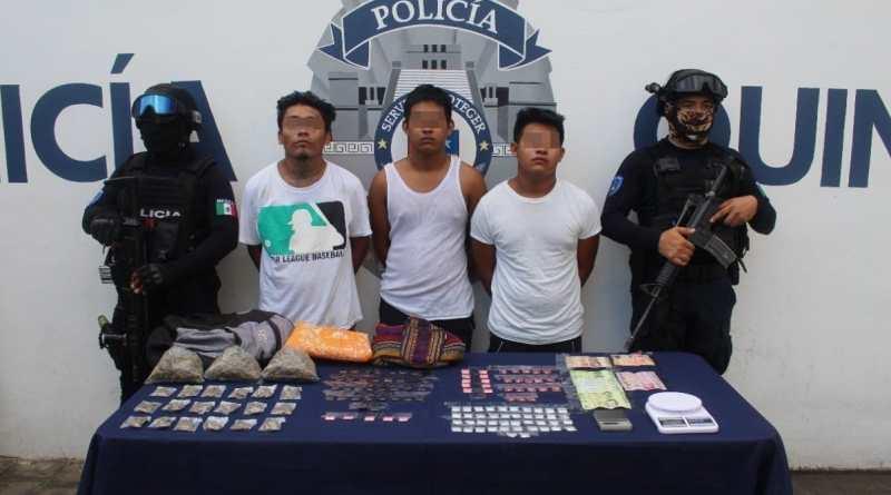 La Policía Quintana Roo en coordinación con la SEDENA, realizan el aseguramiento de armas en la zona sur del estado