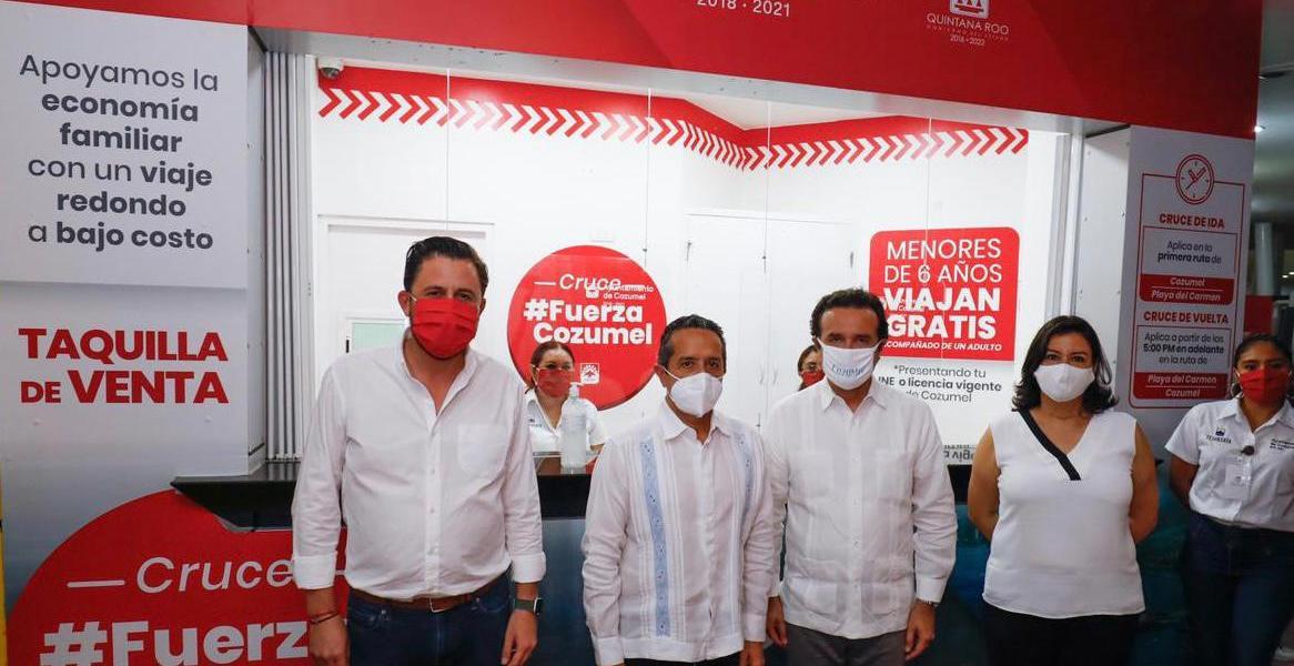 Con el apoyo del gobernador, lanza Pedro Joaquín el cruce fuerza social para atender una necesidad urgente de la comunidad de Cozumel