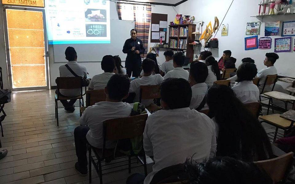Se realiza Jornada Informativa de Prevención con alumnos del Colegio de Bachilleres EMSaD Coba