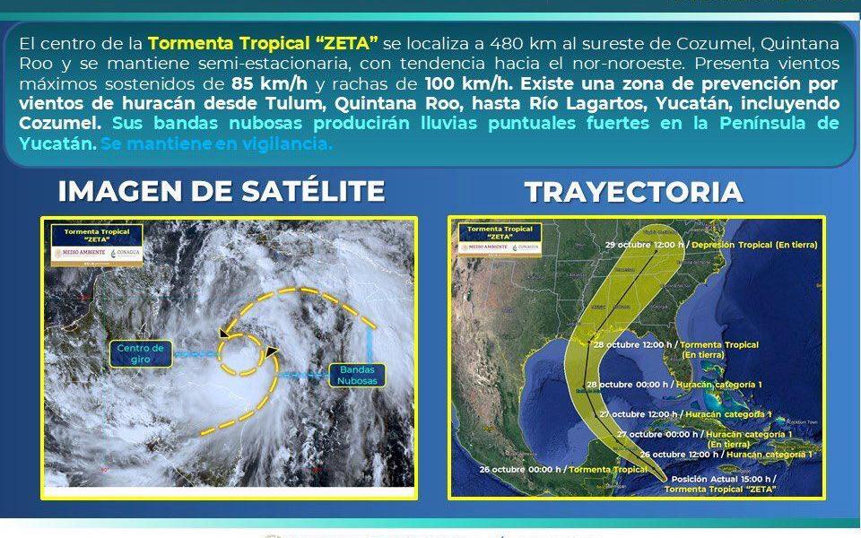 """MUNICIPIO DE BENITO JUÁREZ VIGILA TORMENTA TROPICAL """"ZETA"""""""