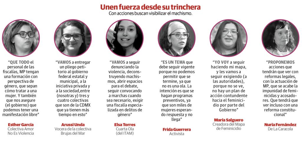 Arman colectivas pliego petitorio para Gobierno tras 8 y 9M