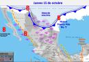 Clima hoy para Cancún y Quintana Roo 15 de octubre de 2020