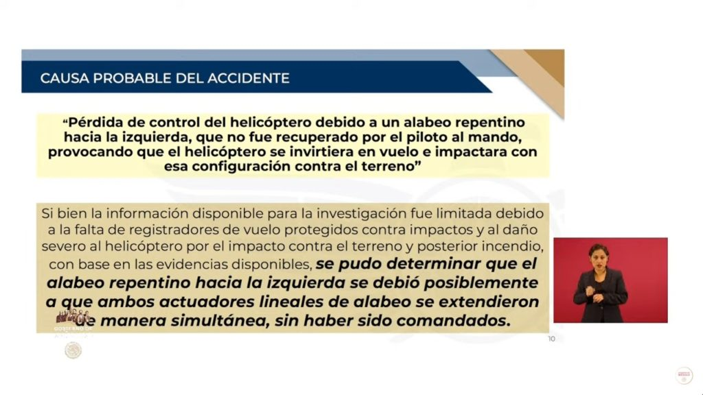 Falla mecánica, principal causa de accidente de Alonso y Moreno Valle