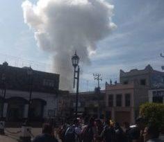 Captan momento exacto de la explosión en Zumpango (VIDEO)