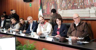 Senado de la República recibe a comitiva de Marcha por La Paz