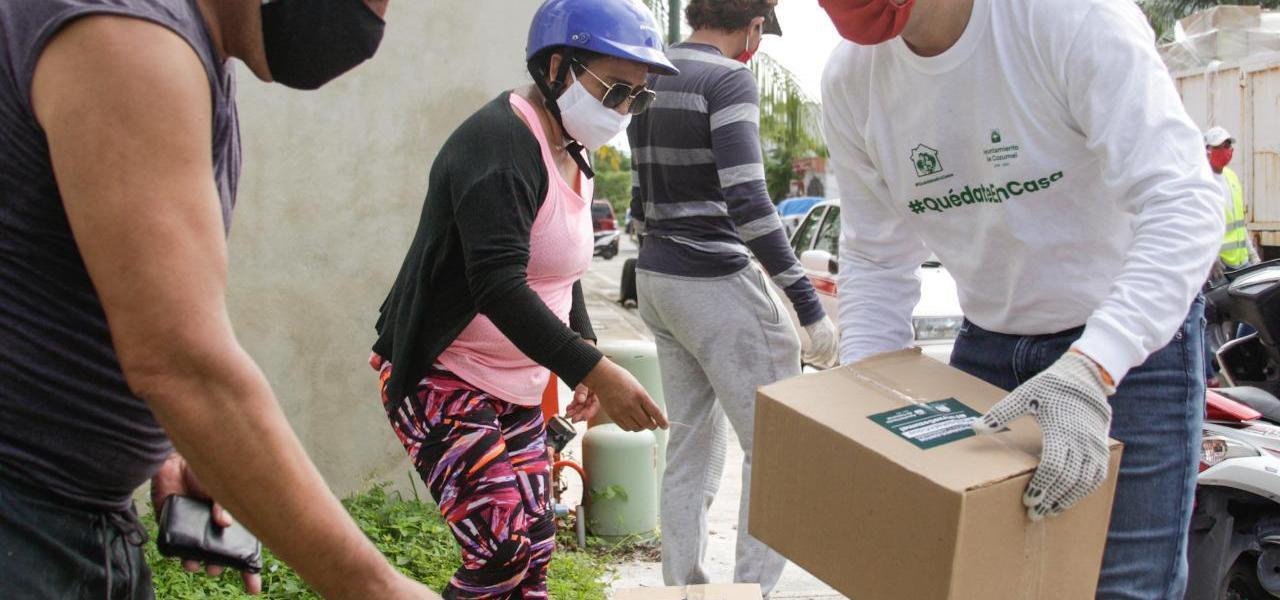 Respalda gente de Cozumel entrega de apoyo alimentario por parte del Gobierno de Pedro Joaquín
