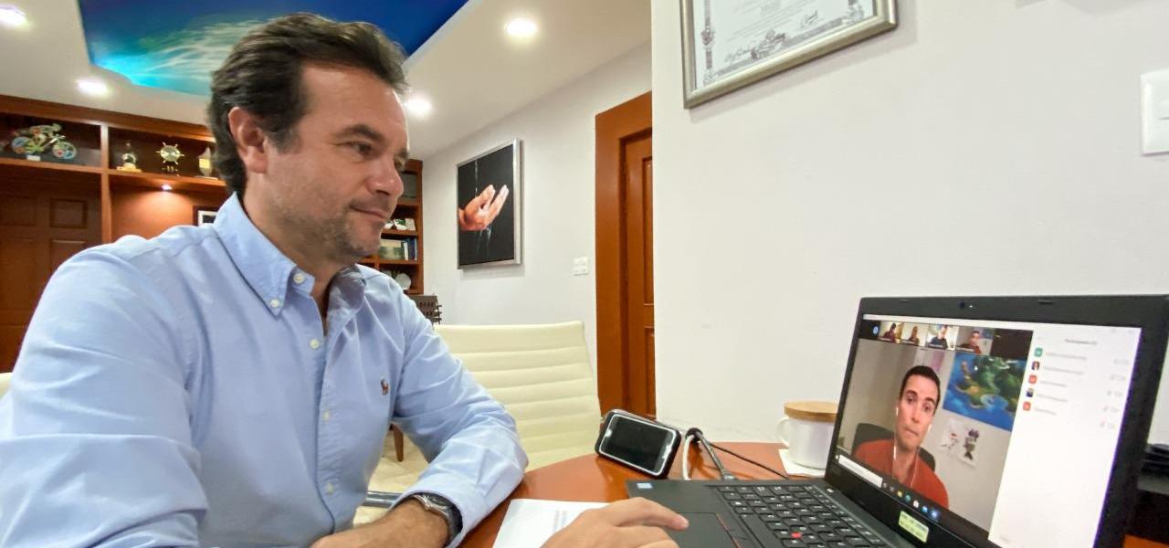 En reunión con Disney Cruise Line, refrenda Pedro Joaquín estrecha coordinación con compañías de cruceros para un retorno seguro a Cozumel