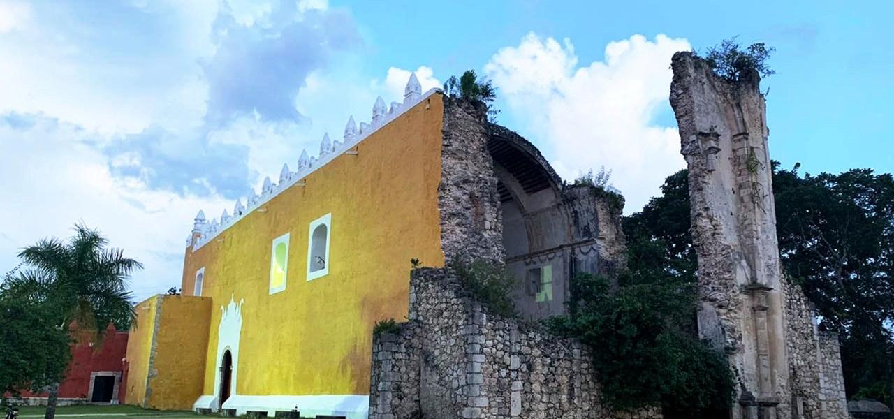 Entregan remodelación de la iglesia de Tihosuco