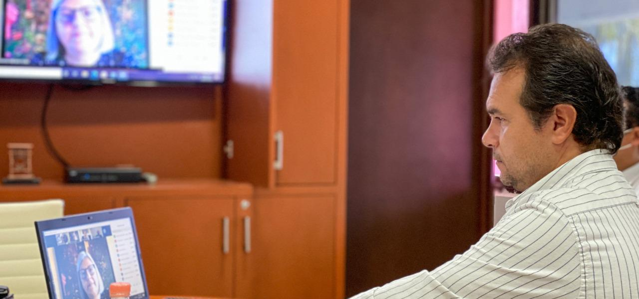 Participa Pedro Joaquín en reunión virtual entre agrupación de municipios y la Secretaría de Economía