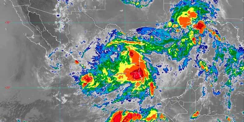 Onda tropical 22 genera lluvias en la Península de Yucatán
