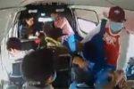 Sujetos con cubrebocas asaltan a pasajeros de combi en México-Puebla (VIDEO)