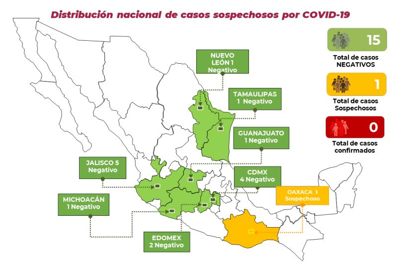 Analizan caso sospechoso de coronavirus en Oaxaca