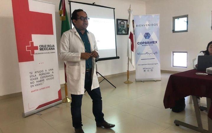 Capacita Cruz Roja a voluntarios en tema coronavirus