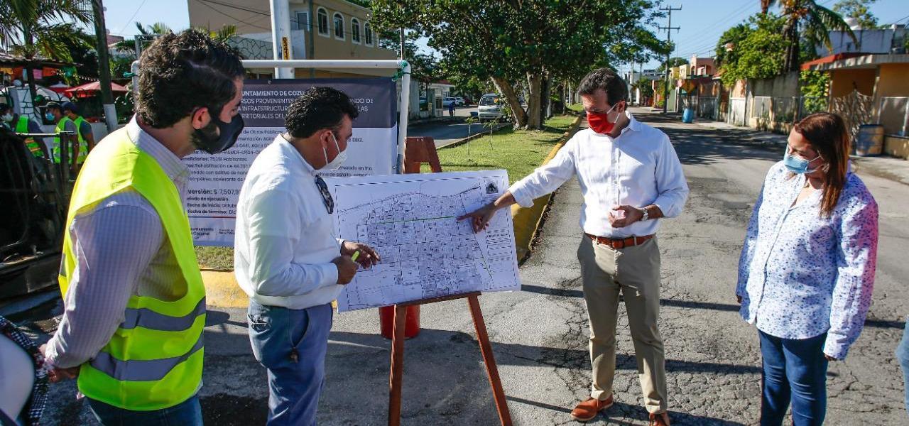 Con obras de pavimentación, acaba Gobierno de Pedro Joaquín rezago de más de 12 años en importantes vialidades de Cozumel