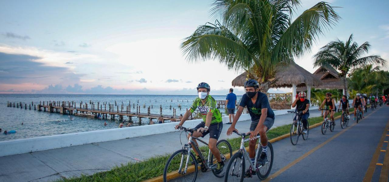 Ciclovía sobre el Malecón, un beneficio en movilidad, cultura vial y sustentabilidad para la gente de Cozumel: Pedro Joaquín