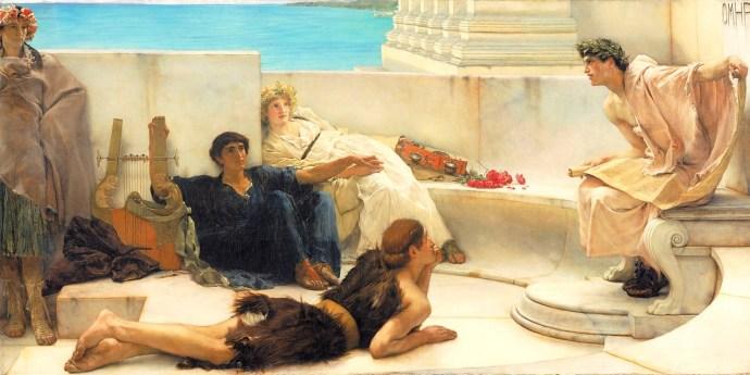 """Лоуренс Альма-Тадема """"Чтение Гомера"""", 1885"""