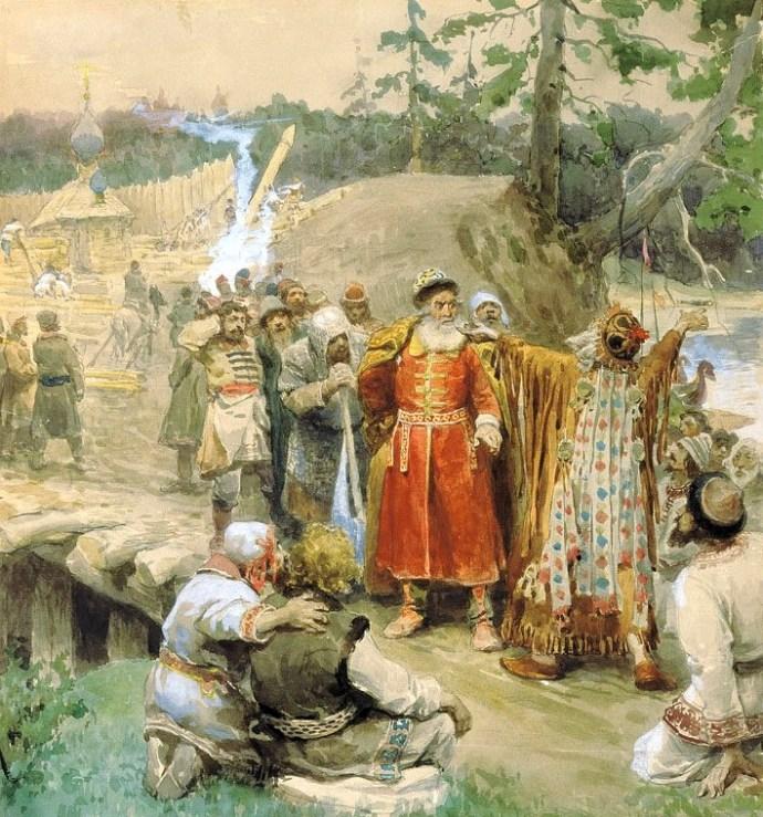 К. Лебедев. «Освоение русскими новых земель»