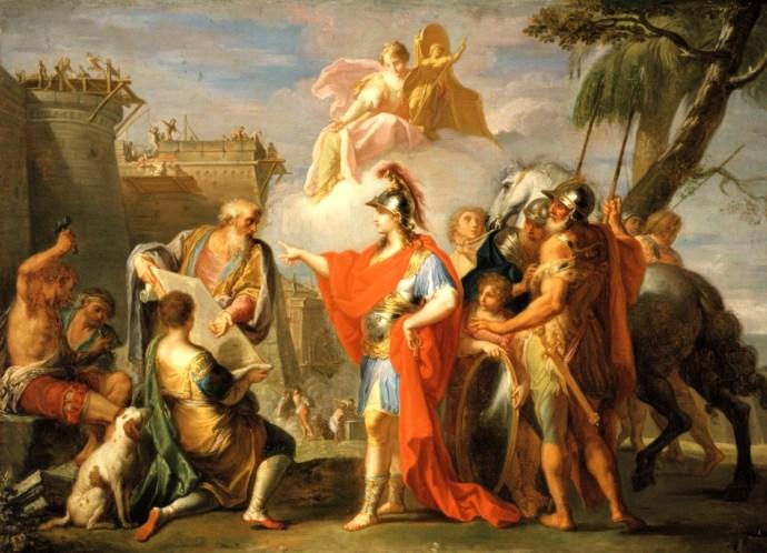 Александр Великий закладывает Александрию Египетскую