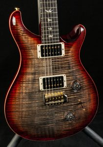 PRS Custom 22 10 Top in Charcoal Cherry Burst, Pre-Owned