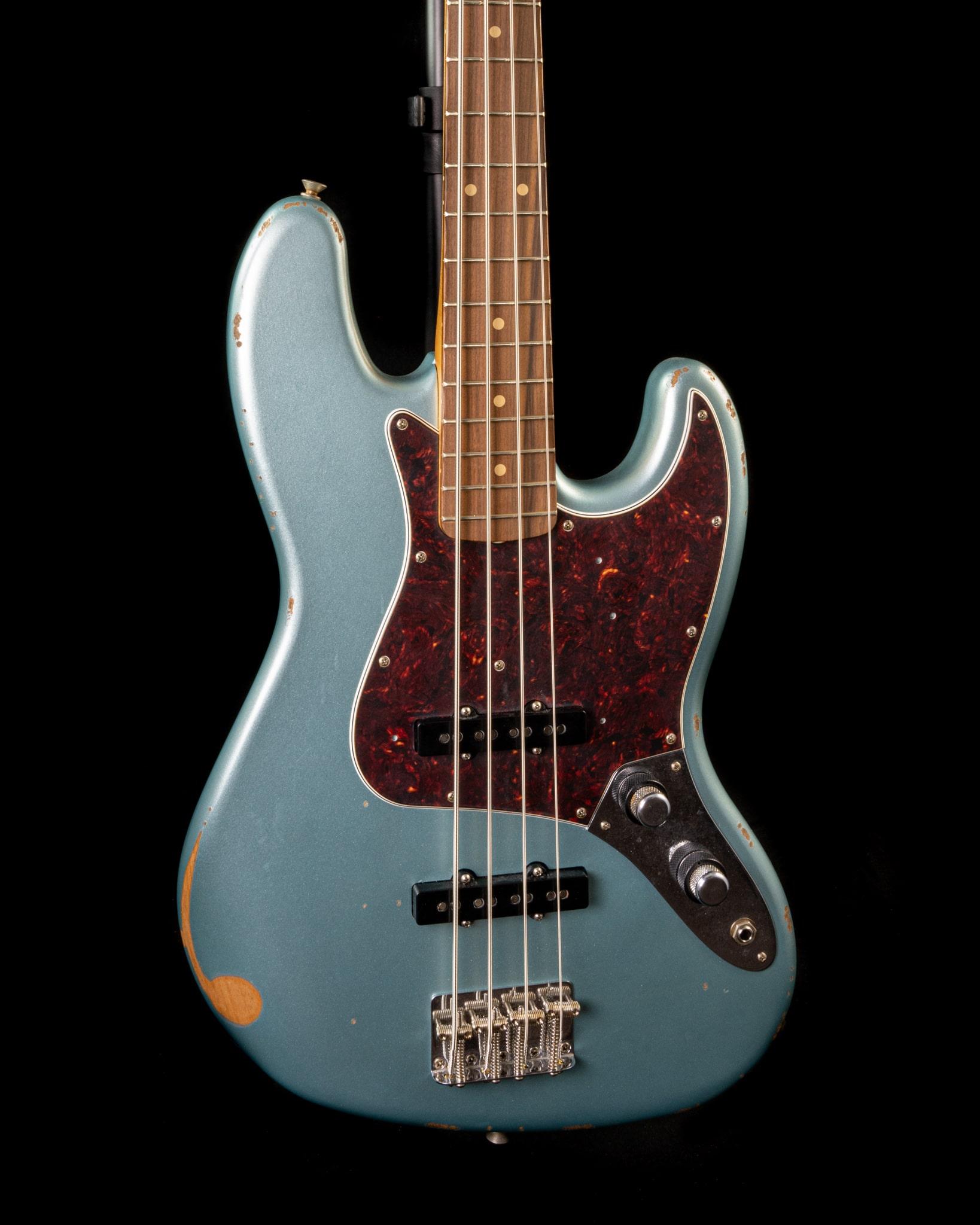 Fender 60th Anniversary Road Worn Jazz Bass in Firemist Silver