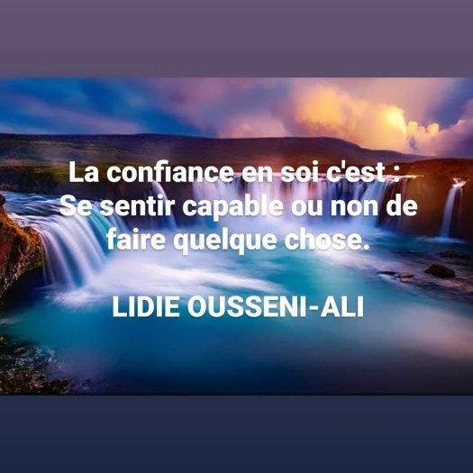 Citation de LIDIE OUSSENI-ALI