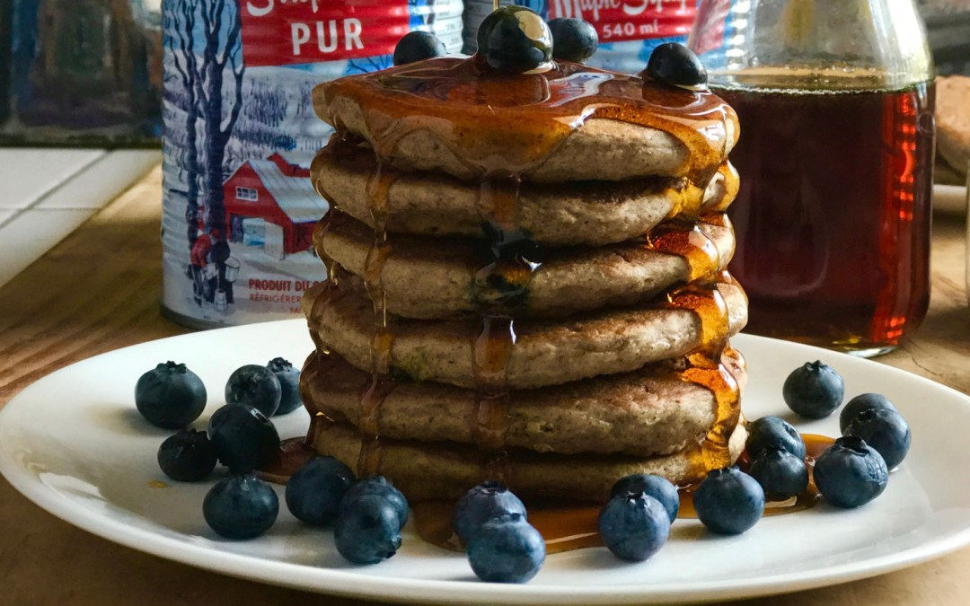 My Vegan Blueberry Pancake Recipe
