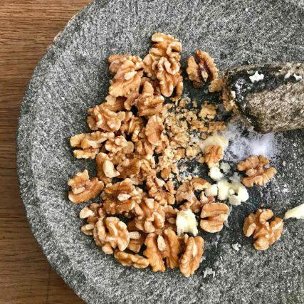 walnuts garlic salt