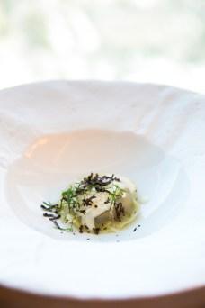 secret ravioli truffle and cream sauce