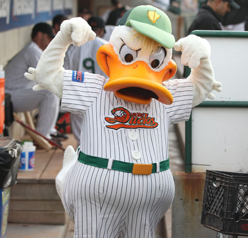 The Long Island Ducks very own QuackerJack