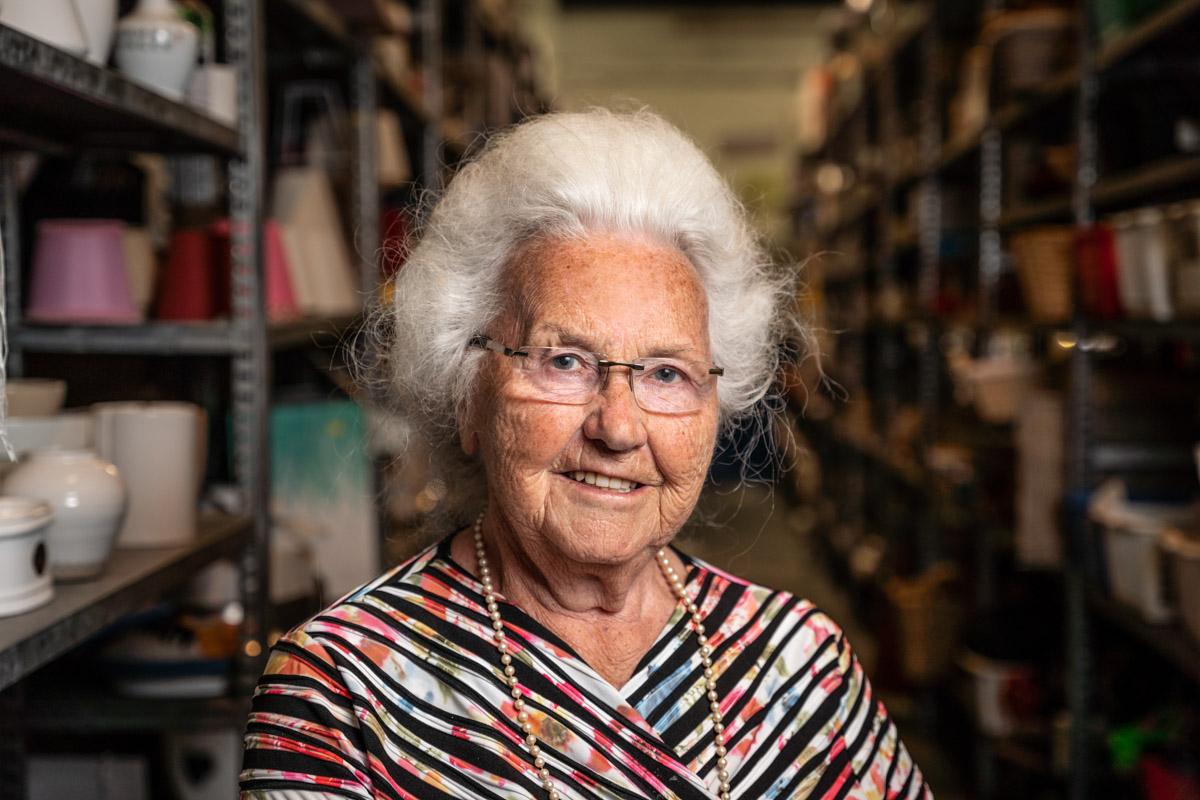 portret oudere dame ruilwinkel zeeland fotografie