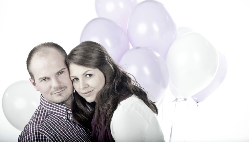 Engagement-Shooting in Düren mit Luftballons
