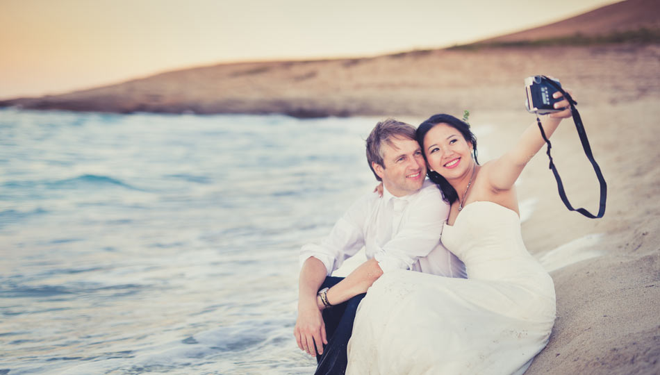 After-wedding-shooting Mallorca Kussfoto