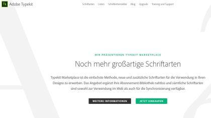 Startbild von Typekit.com