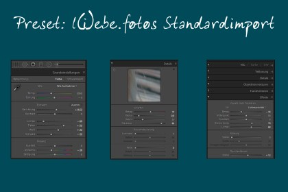 Lightroom Standardpreset