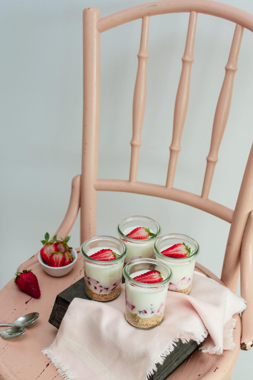 Erdbeer-Zitronen Cheesecake im Glas