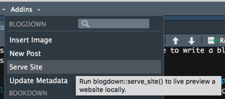 serve site