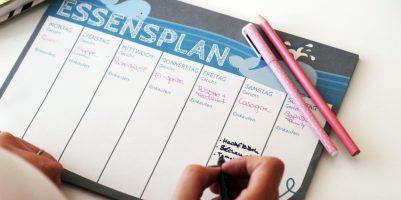 Essensplan für eine ganze Woche - eine Familie lebt gesund?
