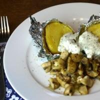 Folienkartoffel mit Sauerrahm (Sourcream)