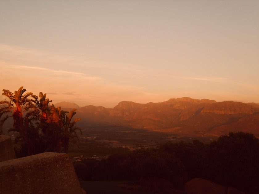 Sonnenuntergang Winelands Südafrika
