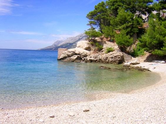 Steinküste in Istrien