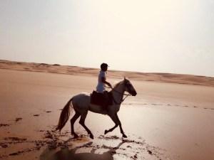 Reiten am Strand von Essaouira
