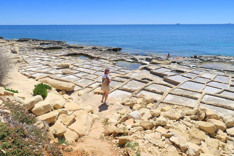 Salt pans Marsaskala on Malta