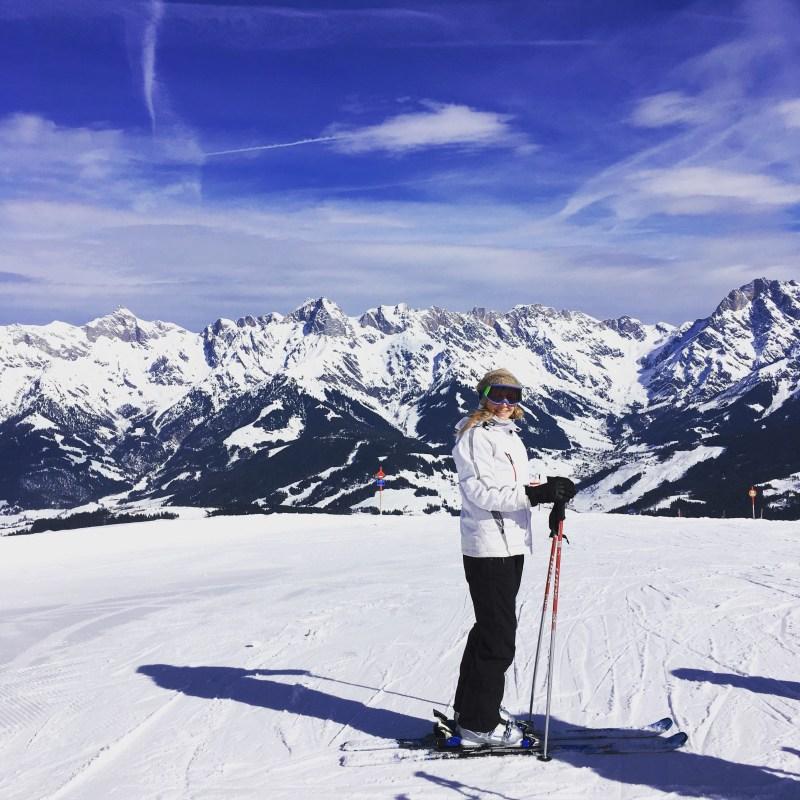 Perfekte Bedingungen zum Skifahren in Maria Alm an der Abergbahn
