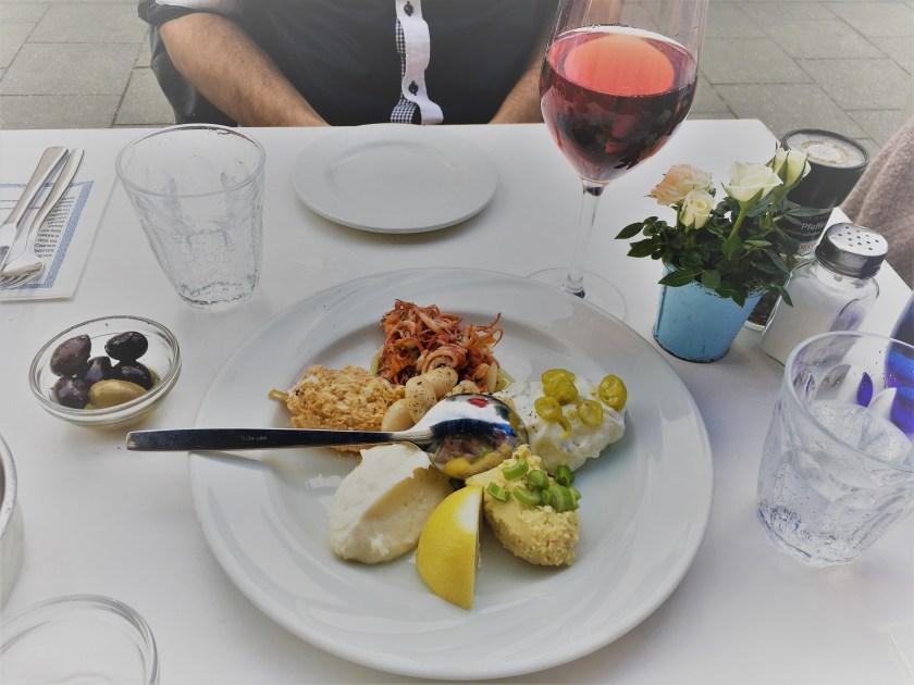Delicious appetizer dish in Crete Grill