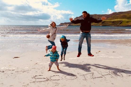 Schottland mit Kindern Calgary Bay