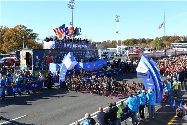 Startschuss NYC Marathon