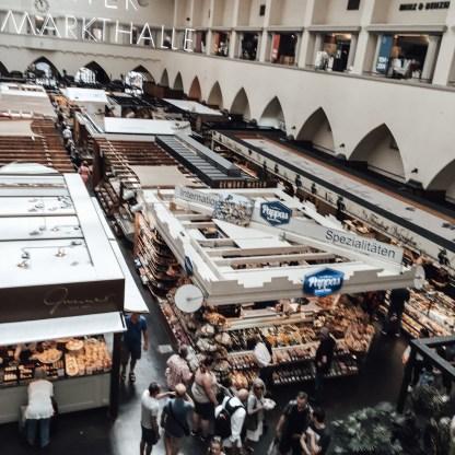 Stuttgart market hall from above