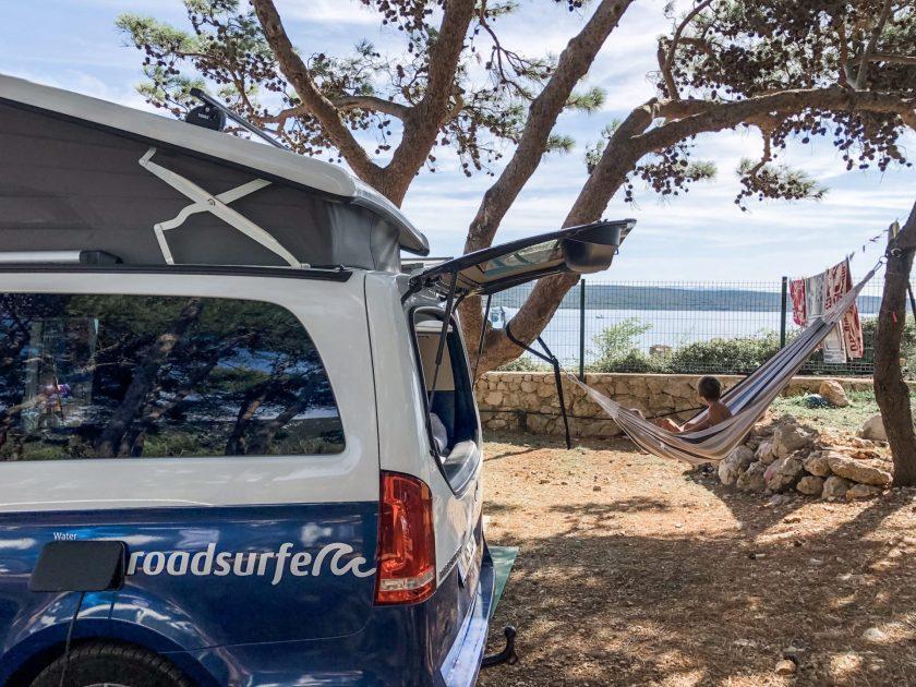 Stellplatz in erster Meereslinie Rapoca Camping