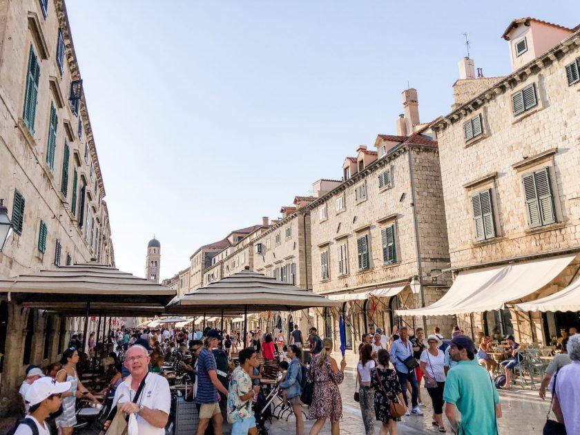 Hauptstraße in Dubrovnik's Altstadt