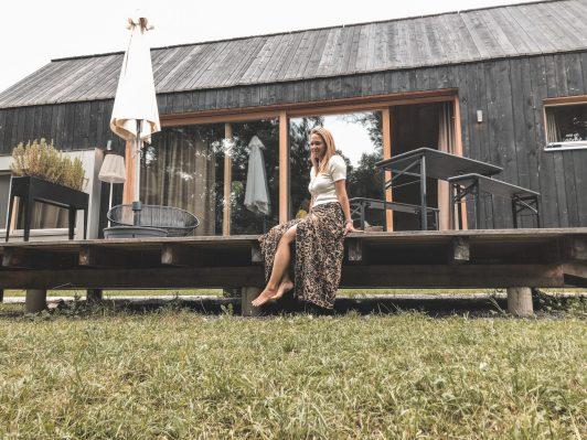 Unser Tiny House mit Holzterrasse